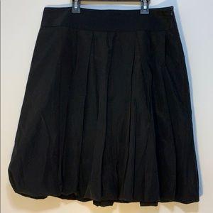 Zara Basic Black Bubble Skirt